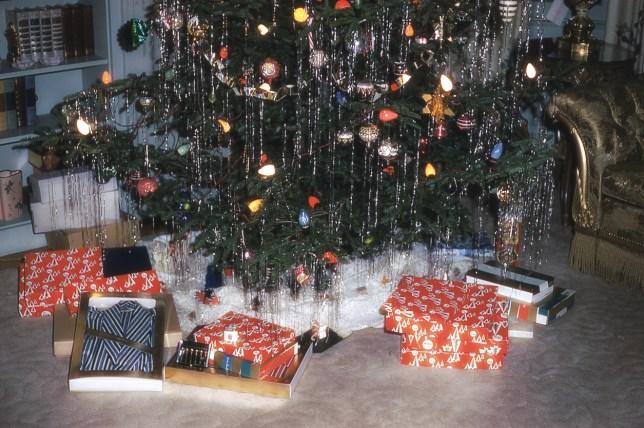 A retro Christmas tree