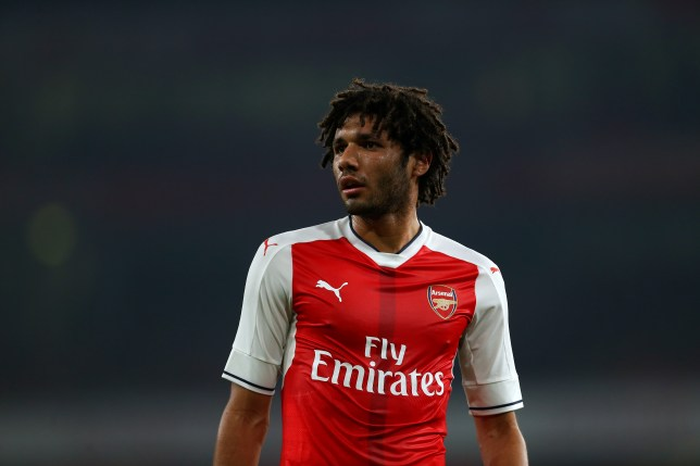 LONDON, ENGLAND - OCTOBER 25: Mohamed Elneny of Arsenal during the EFL Cup fourth round match between Arsenal and Reading at Emirates Stadium on October 25, 2016 in London, England. (Photo by Catherine Ivill - AMA/Getty Images)