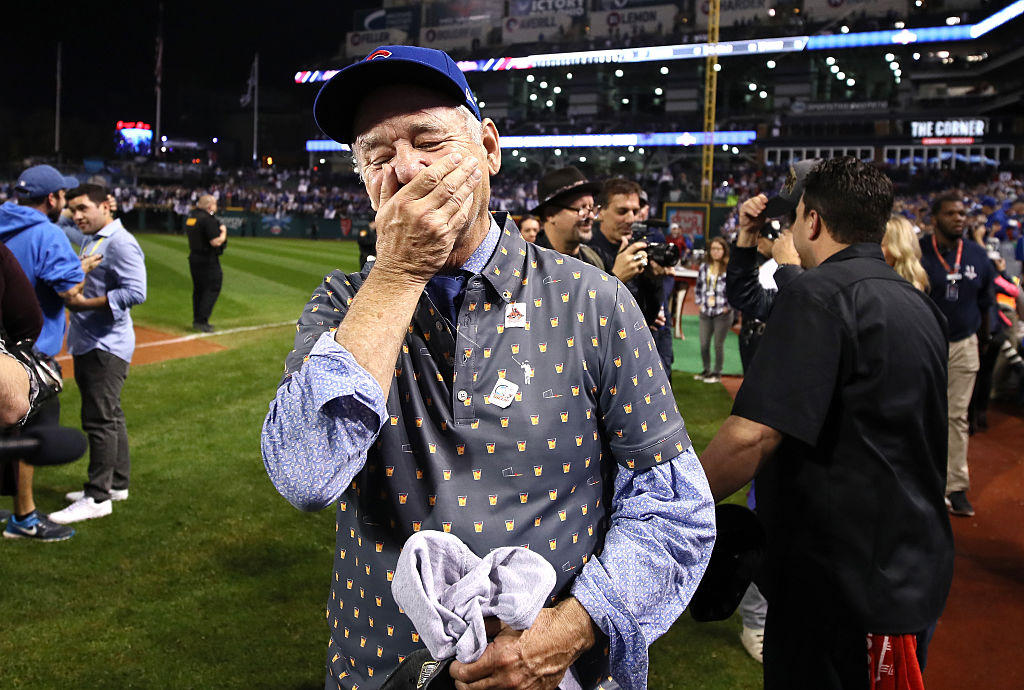 Bill Murray's reaction to the Chicago Cubs winning the World Series was everything