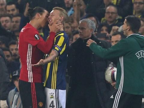Manchester United star Zlatan Ibrahimovic plays down fracas with Fenerbahce's Simon Kjaer
