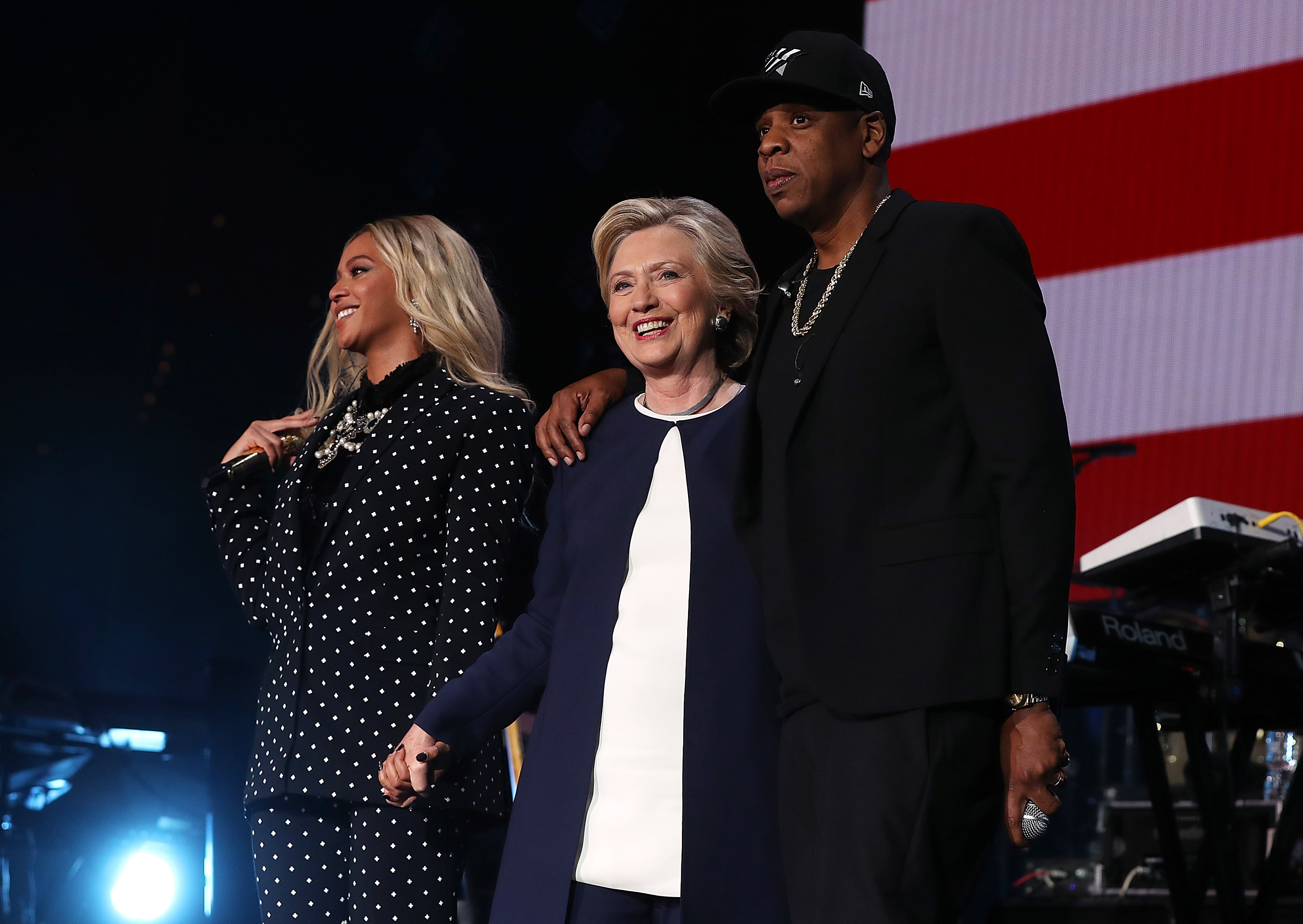 WATCH: Beyonce, Jay Z and Chance The Rapper perform at a Hillary Clinton rally