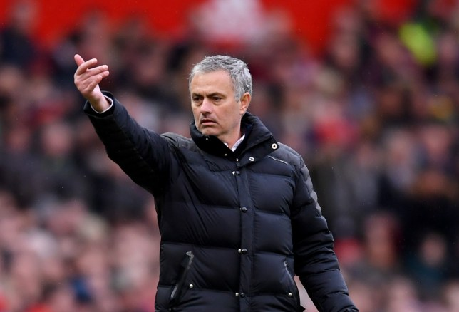 MANCHESTER, ENGLAND - NOVEMBER 19: Jose Mourinho, Manager of Manchester United gives his team instructions during the Premier League match between Manchester United and Arsenal at Old Trafford on November 19, 2016 in Manchester, England. (Photo by Michael Regan/Getty Images)