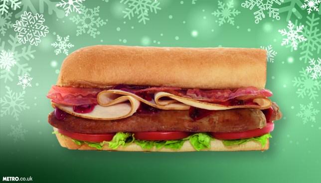 Subway Christmas sandwich Credit: Subway