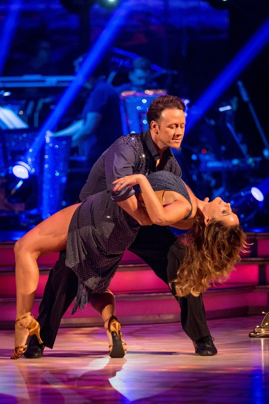 Louise Redknapp and Kevin Clifton were rehearsing when the incident happened (Picture: BBC)