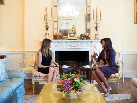 Michelle Obama and Melania Trump met and it was just as awkward