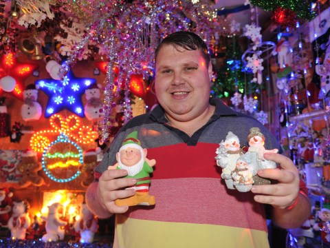 This guy just really, really loves Christmas