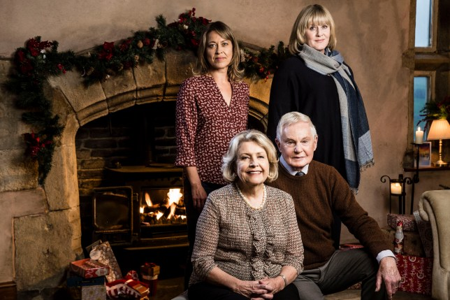 Nicola Walker, Anne Reid,Derek Jacobi and Sarah Lancashire (L-R) are returning for the Last Tango in Halifax Christmas Special (Picture: Gary Moyes/BBC/PA Wire)