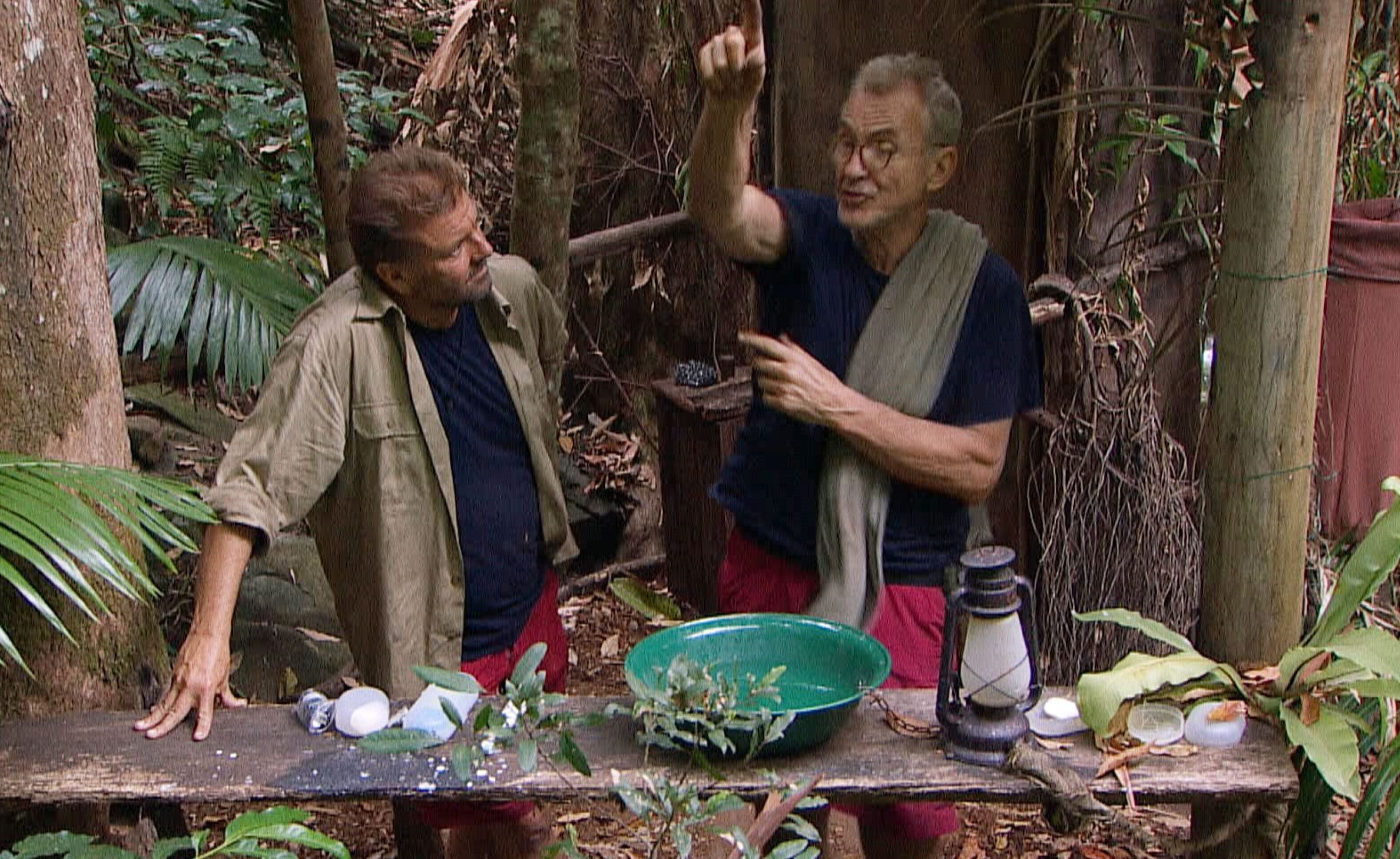 Larry Lamb and Martin Roberts come to blows in latest I'm A Celeb bust-up