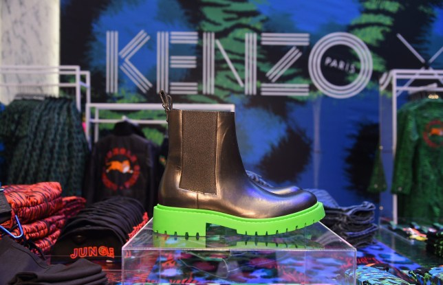 NEW YORK, NY - NOVEMBER 02: Clothing on display at Kenzo x H&M VIP Pre-Shop Event on November 2, 2016 in New York City. (Photo by Ben Gabbe/Getty Images for H&M)