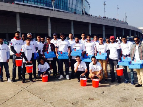 Hundreds of young Muslims are out selling poppies to raise £20,000
