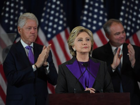 Here's why Hillary Clinton wore purple for her concession speech