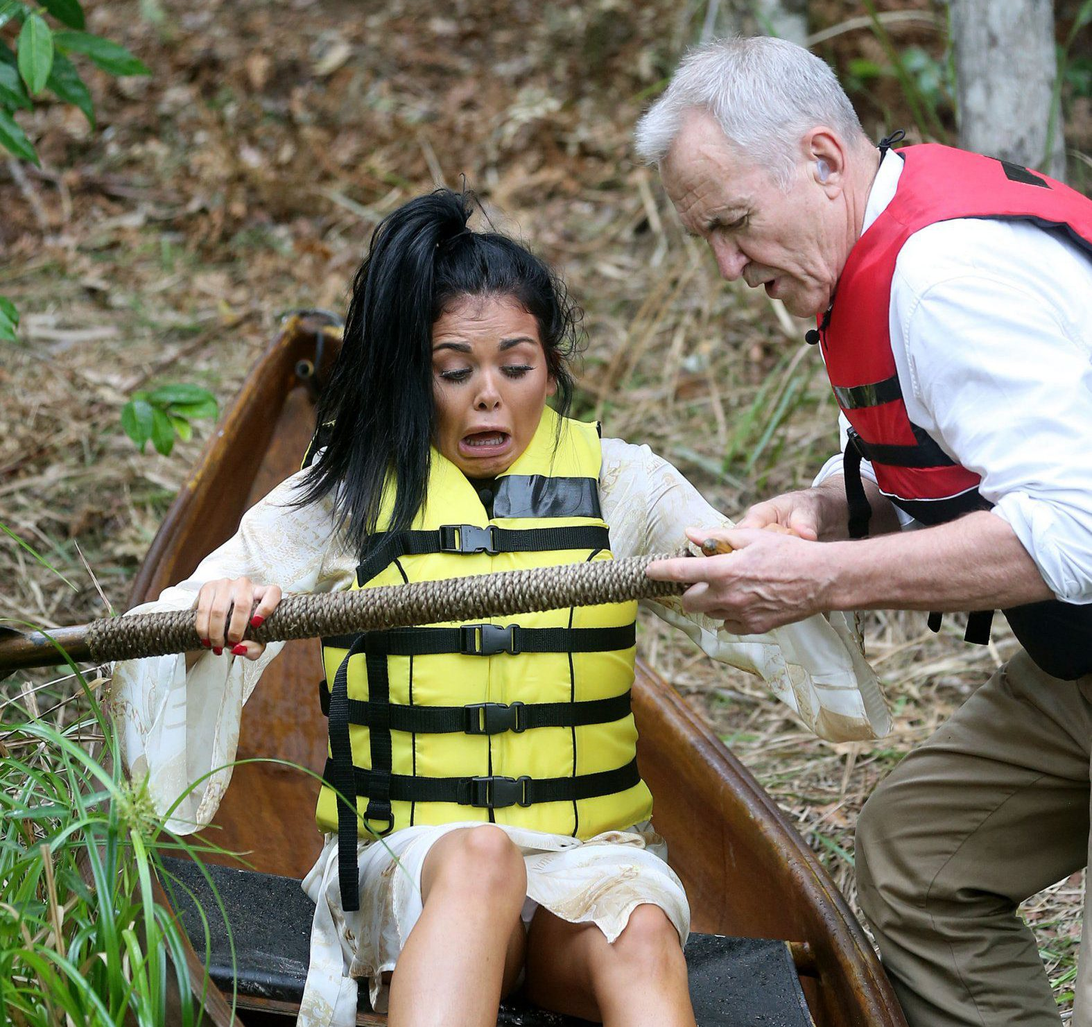 I'm A Celebrity 2016: Gogglebox's Scarlett Moffatt had to be rescued by Larry Lamb… on the first day