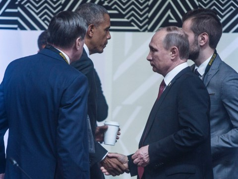 Putin and Obama seem happy to see each other