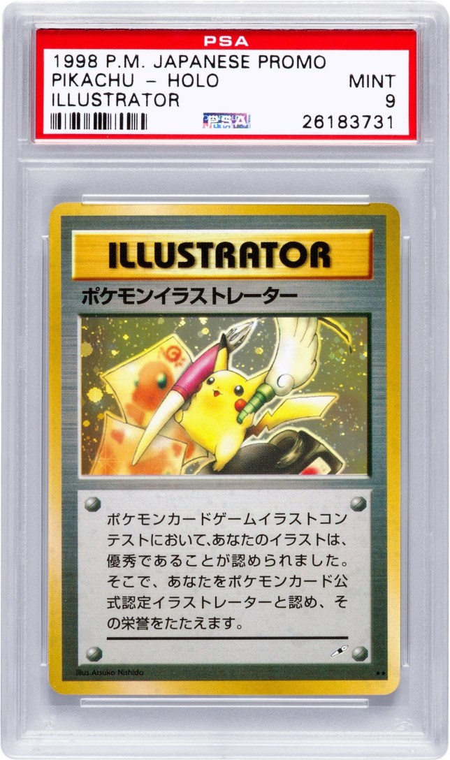 A pristine example of the world's most valuable PokÈmon card has sold at auction for more than £44,000. See NATIONAL story NNPOKE; The so-called 'Pikachu Illustrator' card sold for $54,970 (£44,068) at an auction in Beverly Hills, California, last week - making it the most expensive PokÈmon card ever sold. Interest in Nintendo's billion-dollar PokÈmon franchise has been rekindled in recent months after the release of the firm's long-awaited smart-phone app. The augmented-reality game has users walk around the real world to catch virtual PokÈmon in their neighbourhoods, and had been downloaded more than 30 million times. Just 30 copies of the Pikachu Illustrator were made, and rather than being sold, they were given to competition winners.