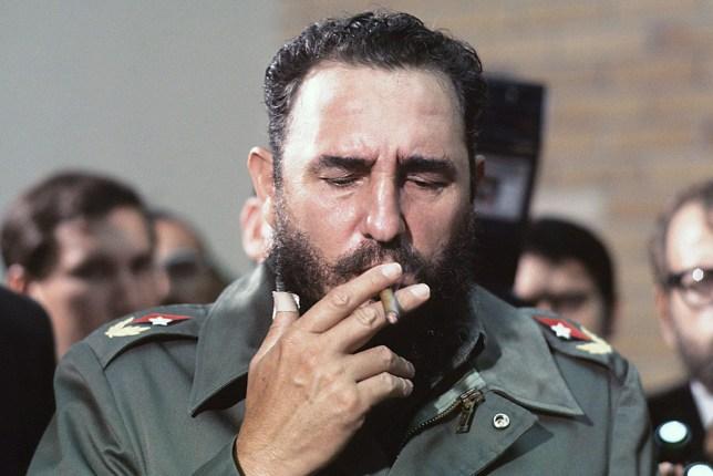 Mandatory Credit: Photo by Gallo Images/REX/Shutterstock (1769927a) Fidel Castro Fidel Castro, Havanna, Cuba - 01 May 1975 Fidel Castro during the visit of Senator McGovern to Havanna