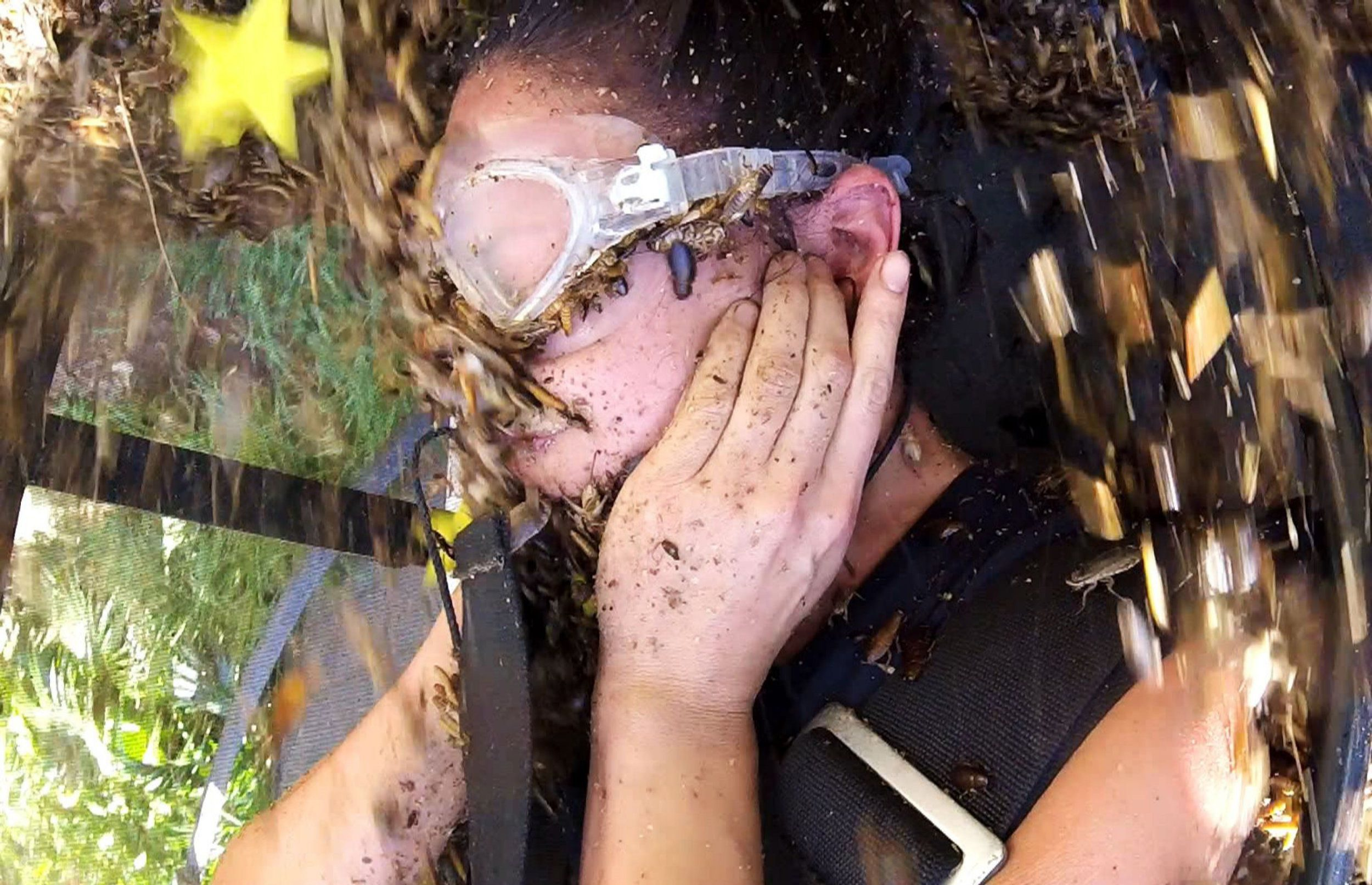 ***EMBARGO, NOT TO BE USED BEFORE 22:00 GMT, 30 Nov 2016 - EDITORIAL USE ONLY - NO MERCHANDISING*** Mandatory Credit: Photo by ITV/REX/Shutterstock (7528546bj) Bushtucker Trial - Wicked Windmill - Sam Quek 'I'm a Celebrity...Get Me Out of Here!' TV Show, Australia - 30 Nov 2016