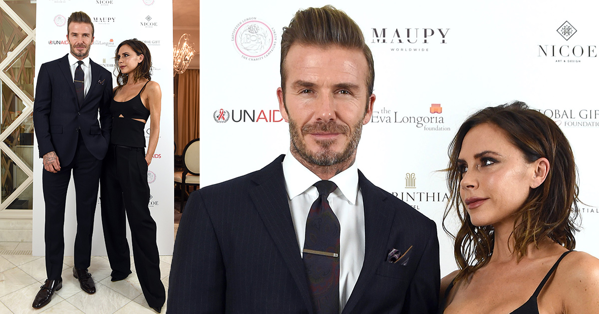 Victoria Beckham couldn't take her eyes off husband David at the Global Gift Gala 2016