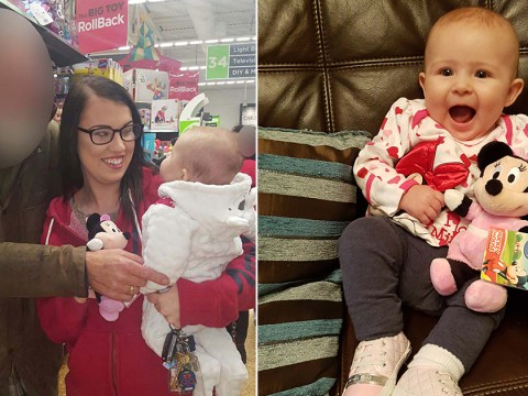 Mum moved to tears after grieving pensioner insists on buying her baby a toy