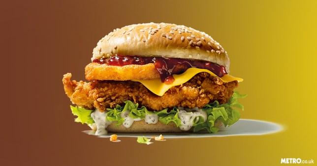 KFC Christmas burger