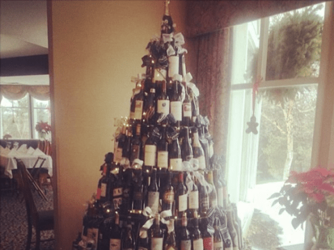 So, wine bottle Christmas trees are now officially a thing and they're magnificent