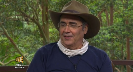 Danny Baker was the first campmate to get the boot from I'm A Celebrity (Picture: ITV)