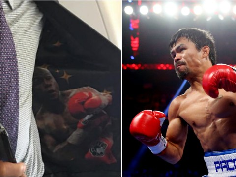 Manny Pacquiao teases boxing fans with cheeky Instagram picture of Floyd Mayweather in the lining of his jacket