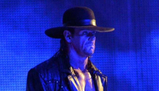 ATLANTA, GA - APRIL 03: Wrestler The Undertaker during WrestleMania XXVII at Georgia Dome on April 3, 2011 in Atlanta, Georgia. (Photo by Kevin Mazur/WireImage)