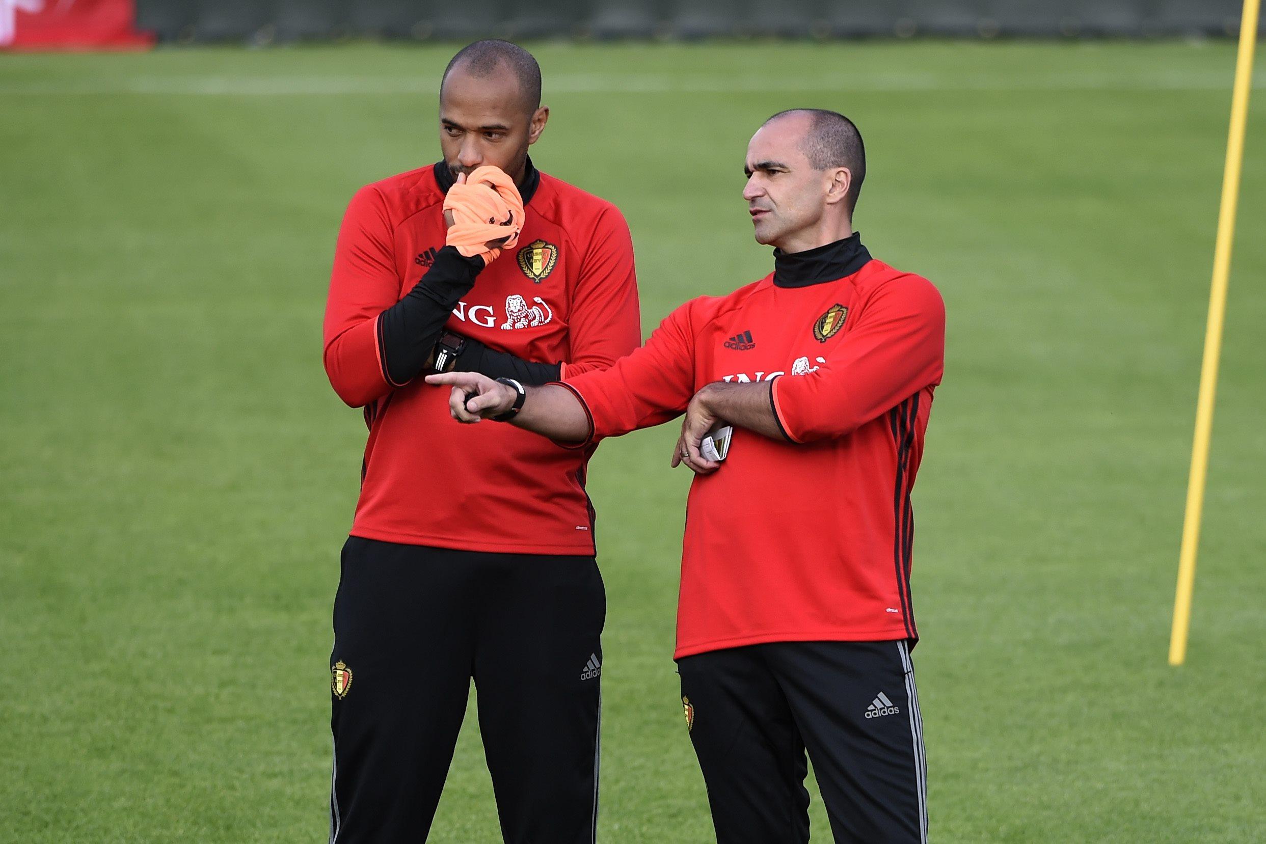 Romelu Lukaku admits having Thierry Henry as a coach 'is not easy'
