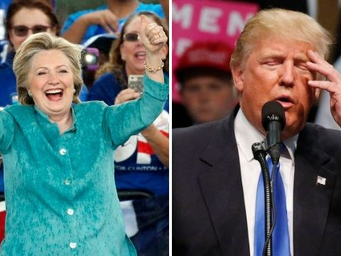 Hillary Clinton ahead of Donald Trump in polls with less than 24 hours until Election Day