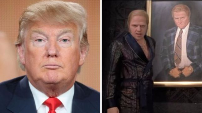 Donald Trump and Biff Tannen (Picture: Getty/ Back to the Future)