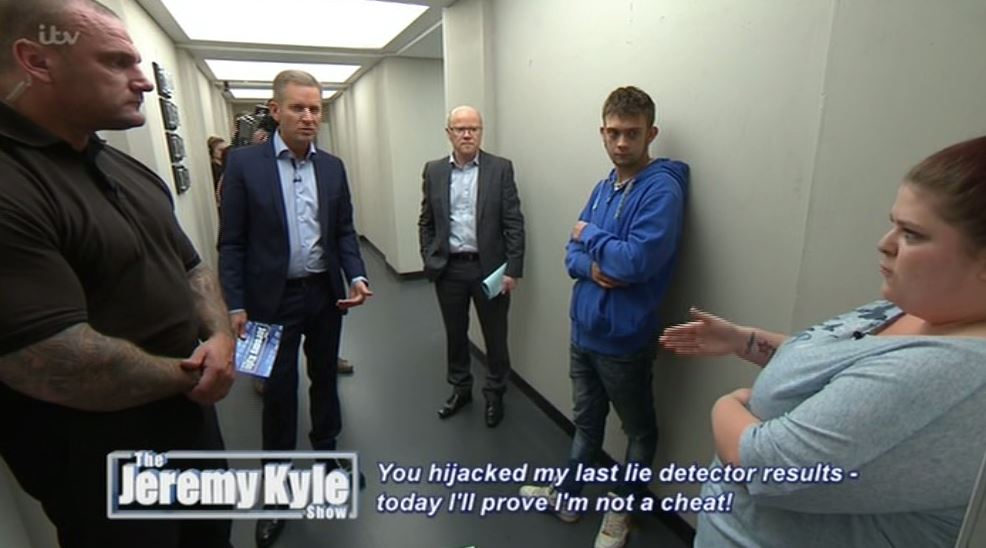 Jeremy Kyle guest admits she did have sex with someone else, but didn't have sexual contact. Go figure.