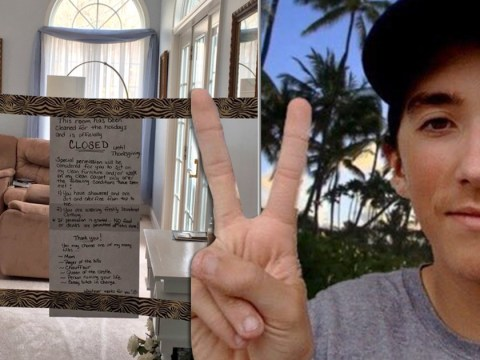 Mum closes off living room until Thanksgiving with hilarious set of rules