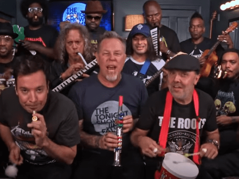 WATCH: Jimmy Fallon, Metallica and The Roots perform Enter Sandman on toy instruments