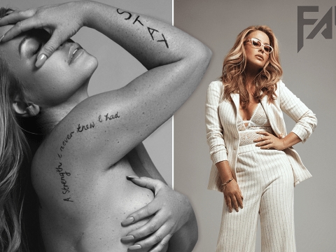 Anastacia reveals her mastectomy scars for the first time in stunning naked photoshoot