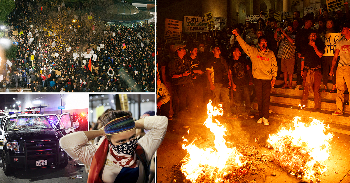 Angry protests break out across US after Donald Trump wins