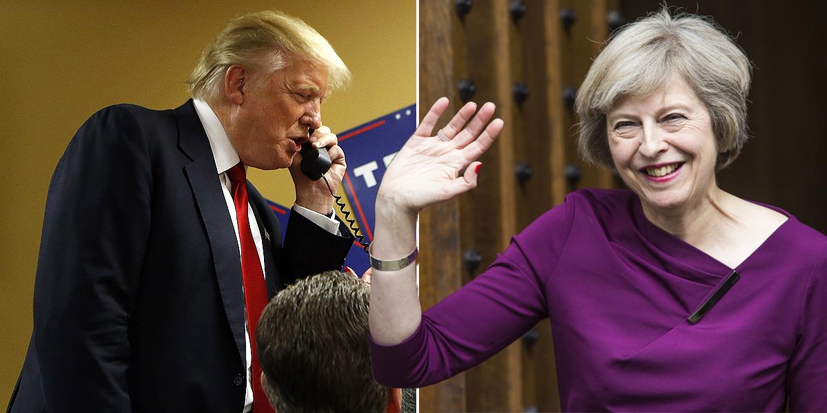 Donald Trump finally calls Theresa May – after Egypt, Turkey and Ireland