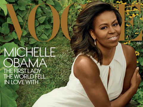 Michelle Obama is on the cover of Vogue and America is finally happy again