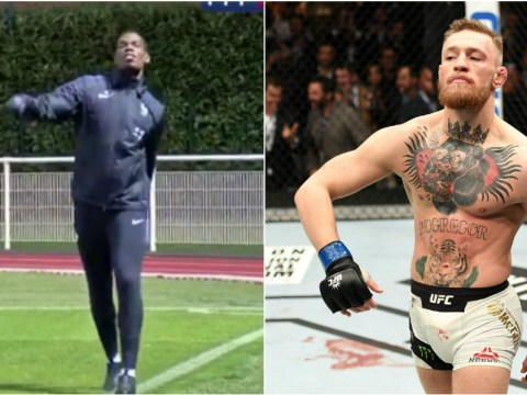 Watch: Manchester United star Paul Pogba does the Conor McGregor swag walk after UFC star creates history