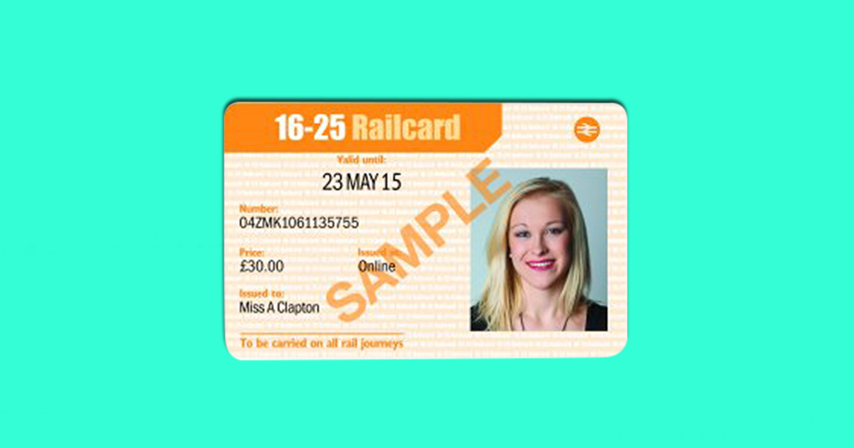 Mature student rail card