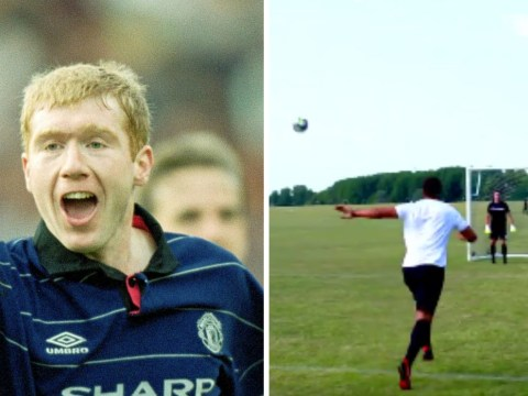 Video: Manchester United legend Rio Ferdinand recreates Paul Scholes wonder-strike