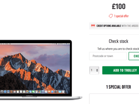 Argos is selling the new Apple Macbook for £100 – and we think someone's in trouble