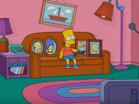 Bart FINALLY gets control of the remote in the latest Simpsons couch gag