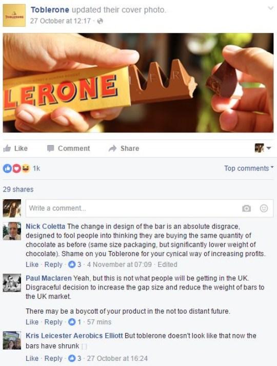New Toblerone: Mondelez deny triangle change is down to