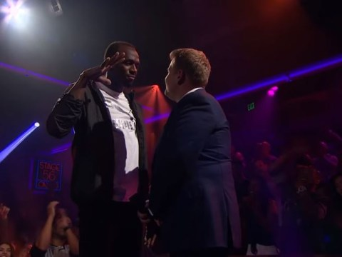 Usain Bolt spits lightning in Drop The Mic rap battle with James Corden