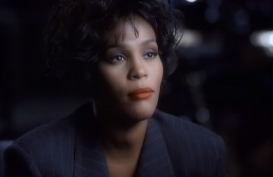 Whitney Houston's I Will Always Love You has been voted the best movie song of all time (Picture: YouTube)
