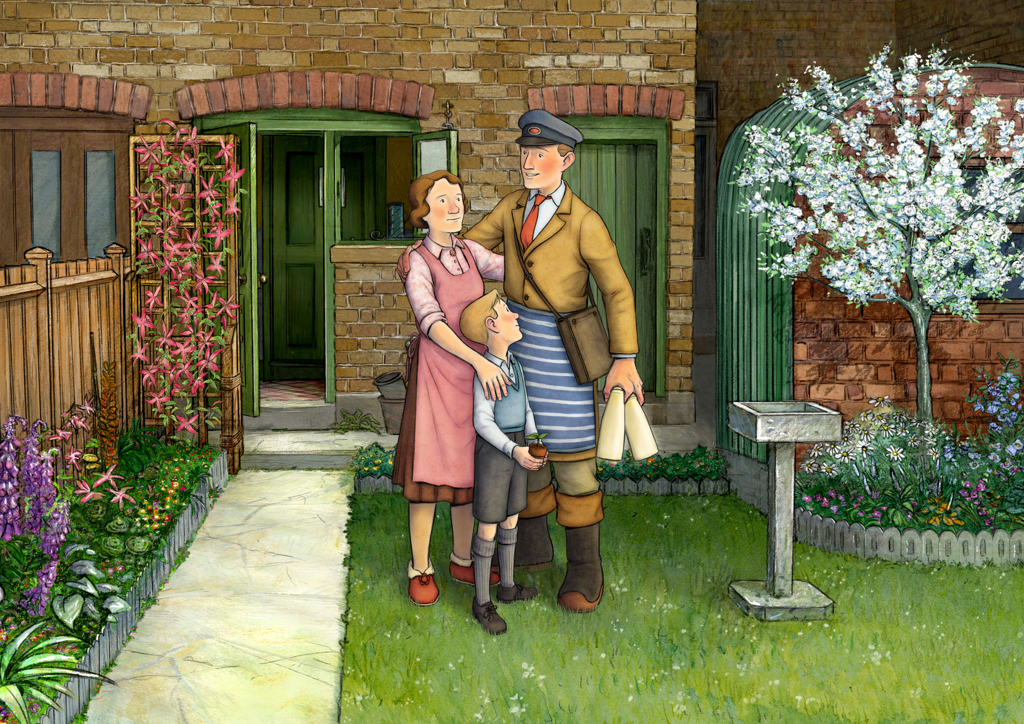 WARNING: Embargoed for publication until 00:00:01 on 03/12/2016 - Programme Name: Ethel and Ernest - TX: 28/12/2016 - Episode: n/a (No. n/a) - Picture Shows: Ethel, Raymond, Ernest - (C) Lupus Films - Photographer: animation
