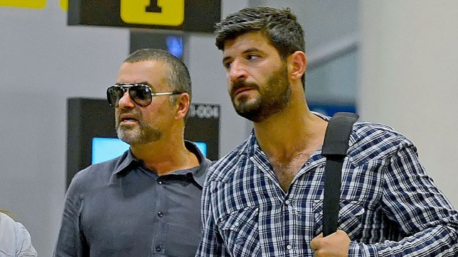 George Michael with boyfriend Fadi Fawaz (Picture: Getty Images)