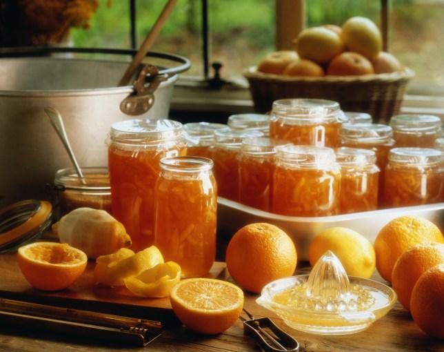 Jars of marmalade