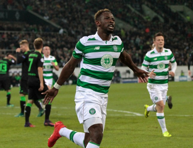 Gladbach, Germany 01.11.2016, Champions League Gruppe C, 4. Spieltag, Borussia Moenchengladbach - Celtic Glasgow, Torjubel 1-1 Moussa Dembele (Celtic Glasgow). (Photo by TF-Images/Getty Images)