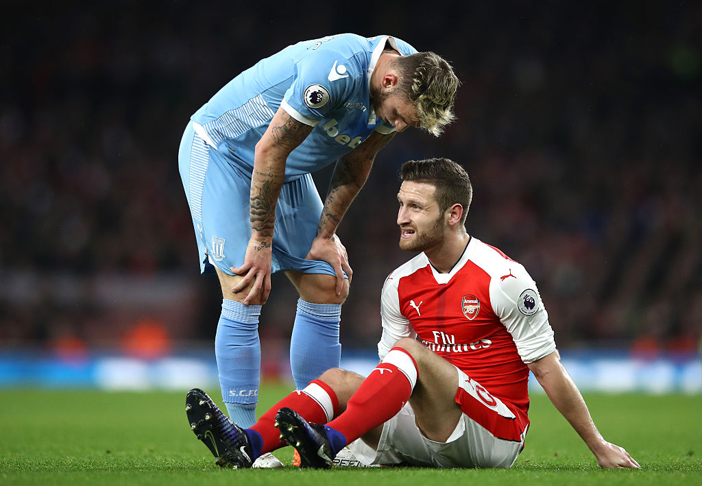 CONFIRMED: The vital Arsenal matches Shkodran Mustafi will miss after suffering hamstring injury against Stoke City